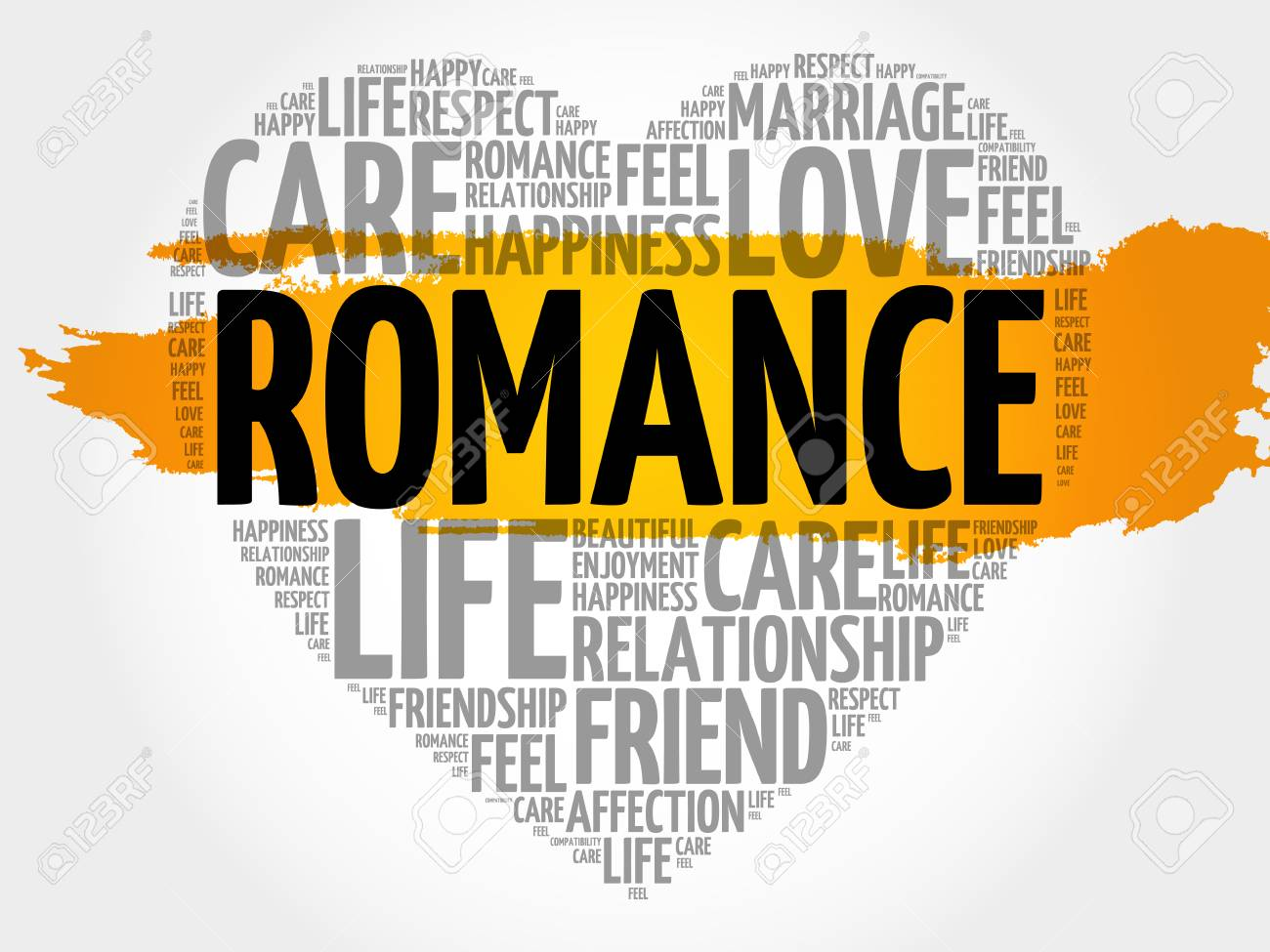 romance word cloud collage heart concept background royalty free