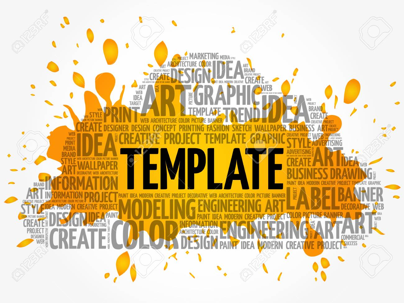 Template Word Cloud Creative Business Concept Background