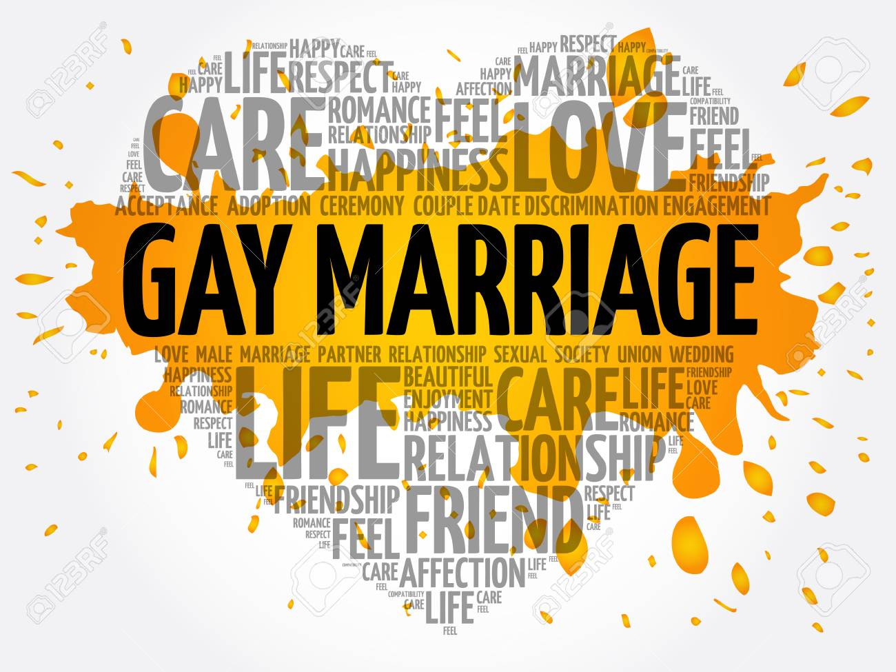 Girlt teens background of gay marriage