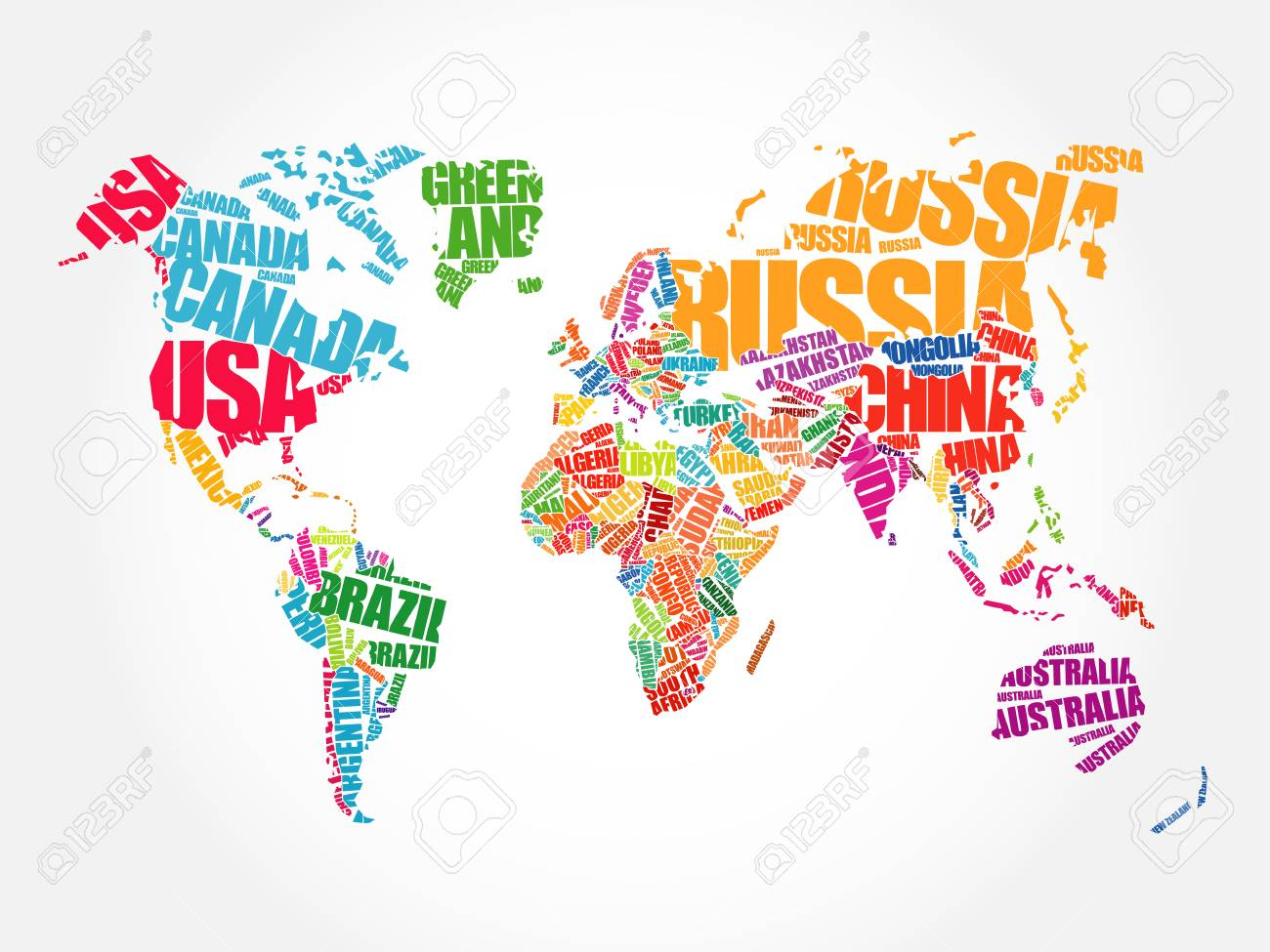 World map in typography word cloud concept names of countries world map in typography word cloud concept names of countries stock vector 94439848 gumiabroncs Image collections