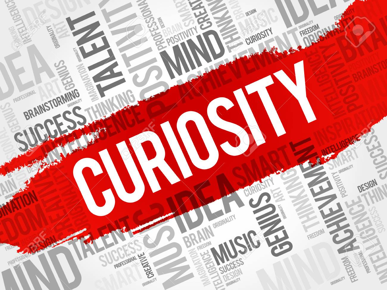 Curiosity word cloud collage, creative business concept background - 97574735