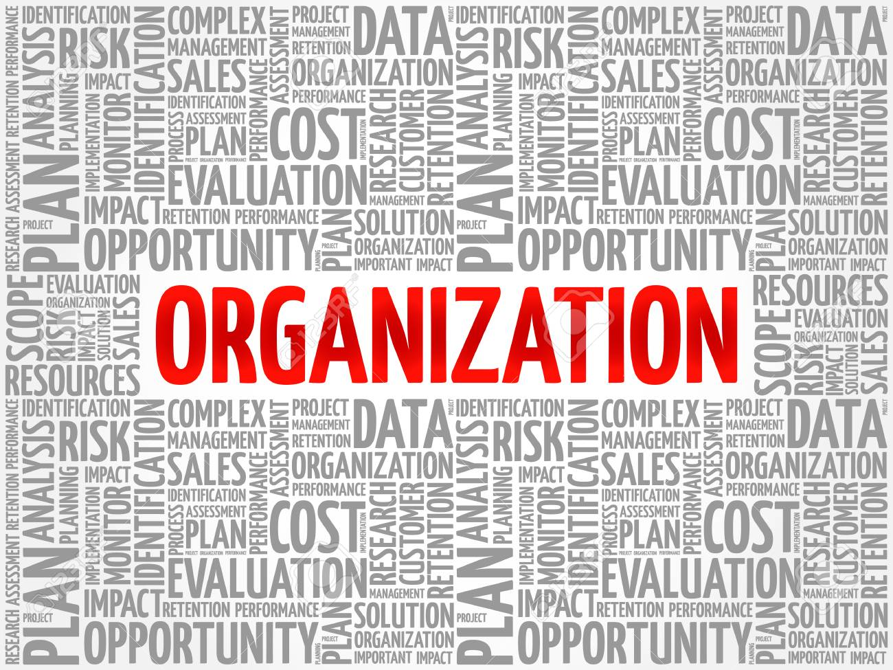 Organization word cloud collage, business concept background - 111934812