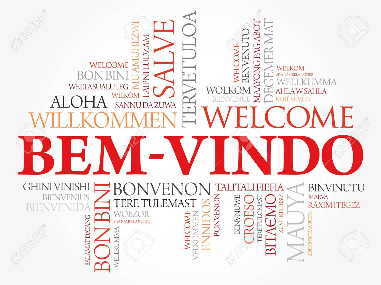 Bem Vindo Welcome In Portuguese Word Cloud In Different Languages Royalty Free Cliparts Vectors And Stock Illustration Image 114031887