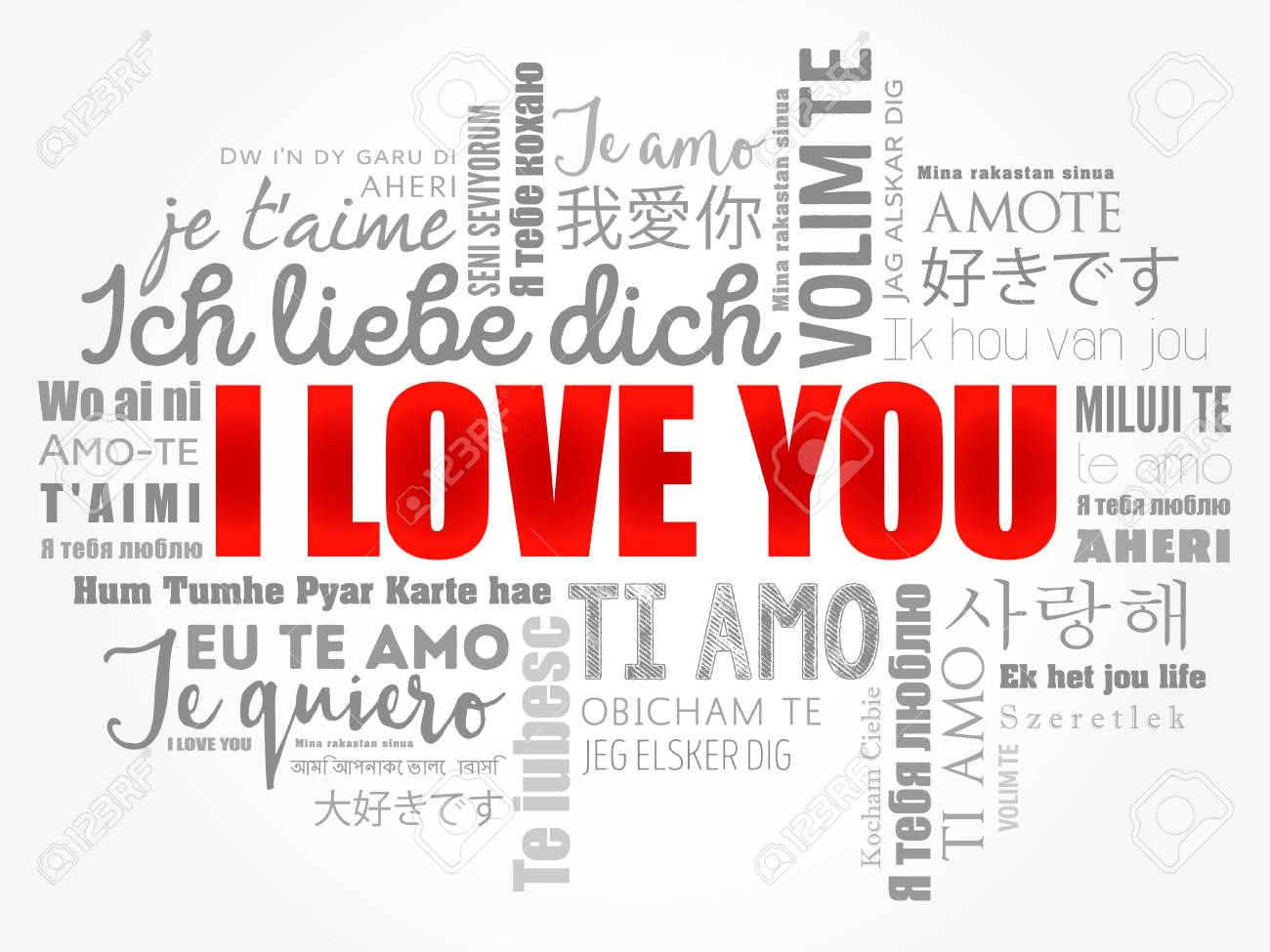 Love Words I Love You In All Languages Of The World Word Cloud Background
