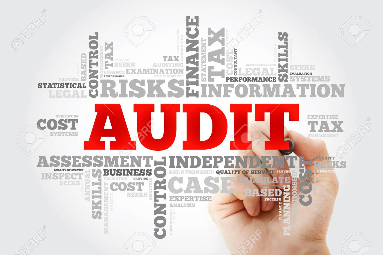 AUDIT word cloud with marker, business concept background - 116406575