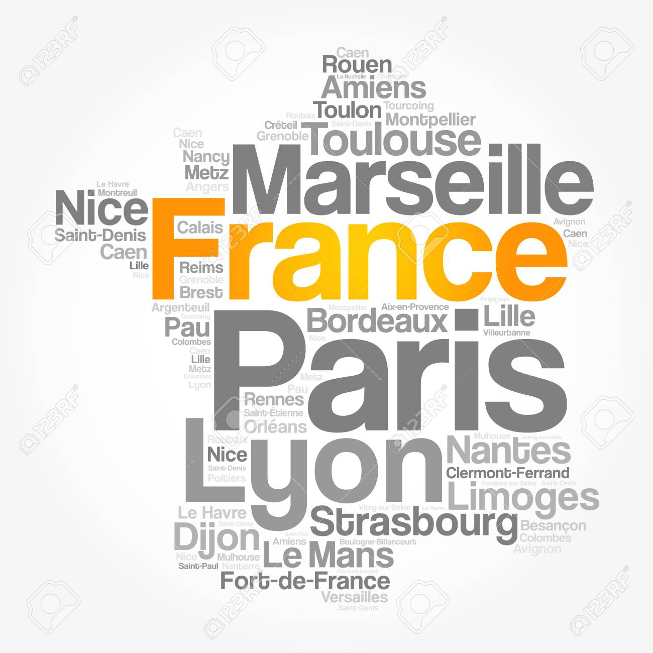 Map Of France Cities And Towns.List Of Cities And Towns In France Map Word Cloud Collage Business