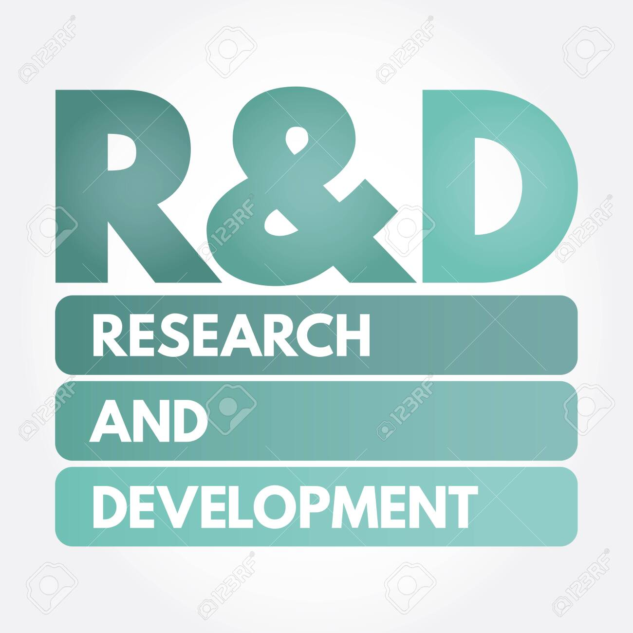 R&D - Research And Development Acronym, Business Concept ...