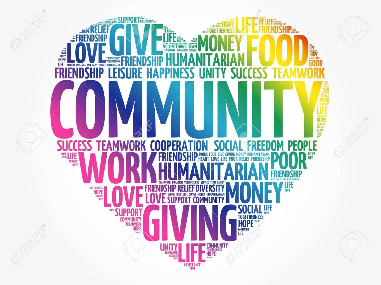 Community word cloud, heart concept - 143098209