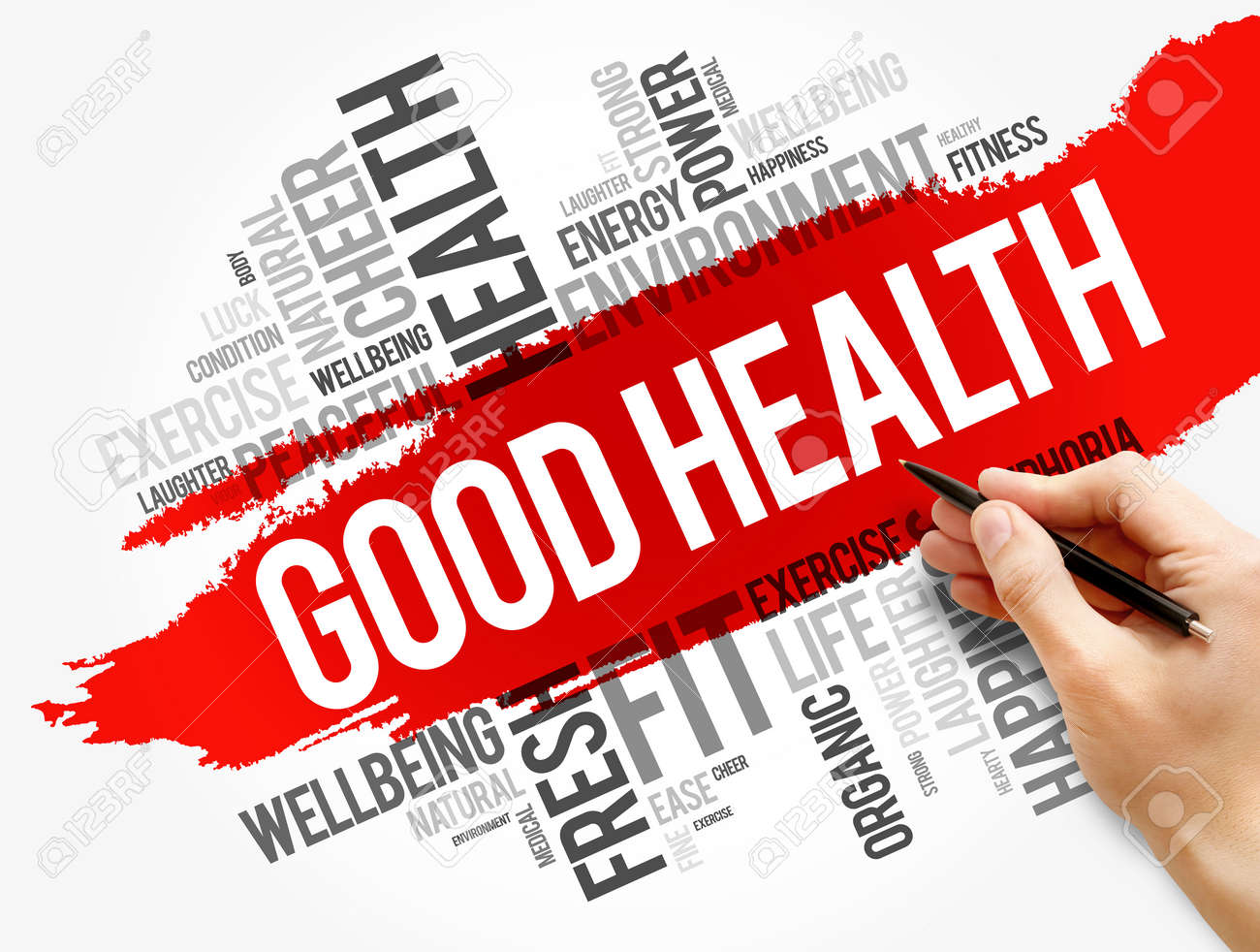 Good Health word cloud collage, health concept background - 147933303