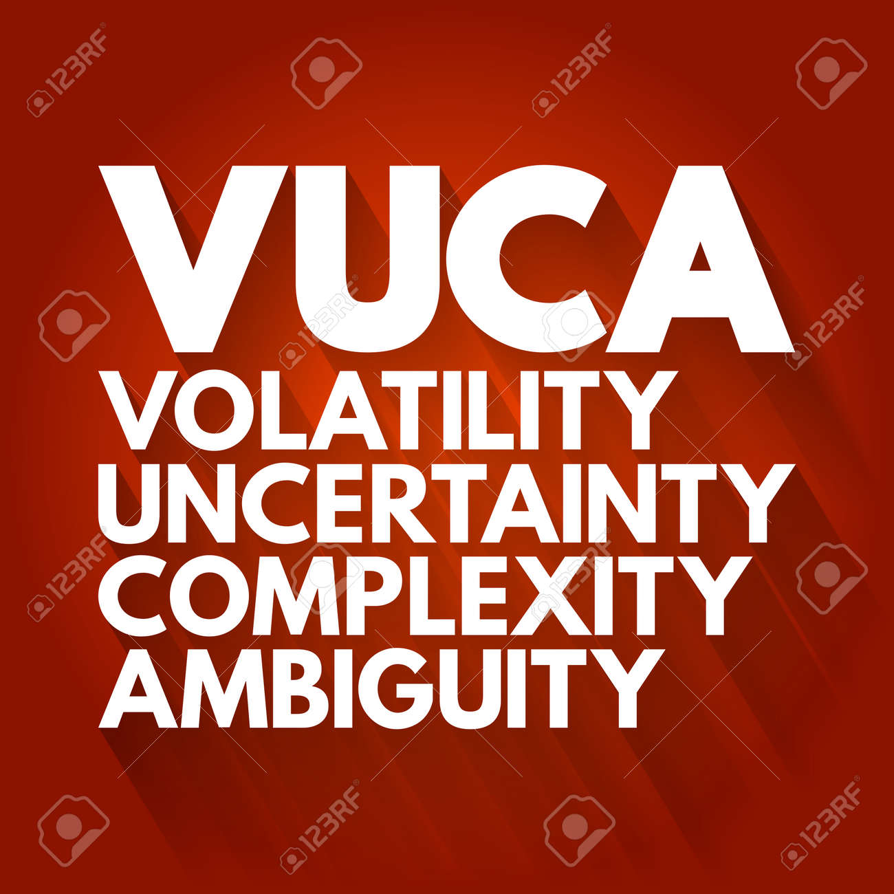 VUCA - Volatility, Uncertainty, Complexity, Ambiguity acronym, business concept background - 166149419