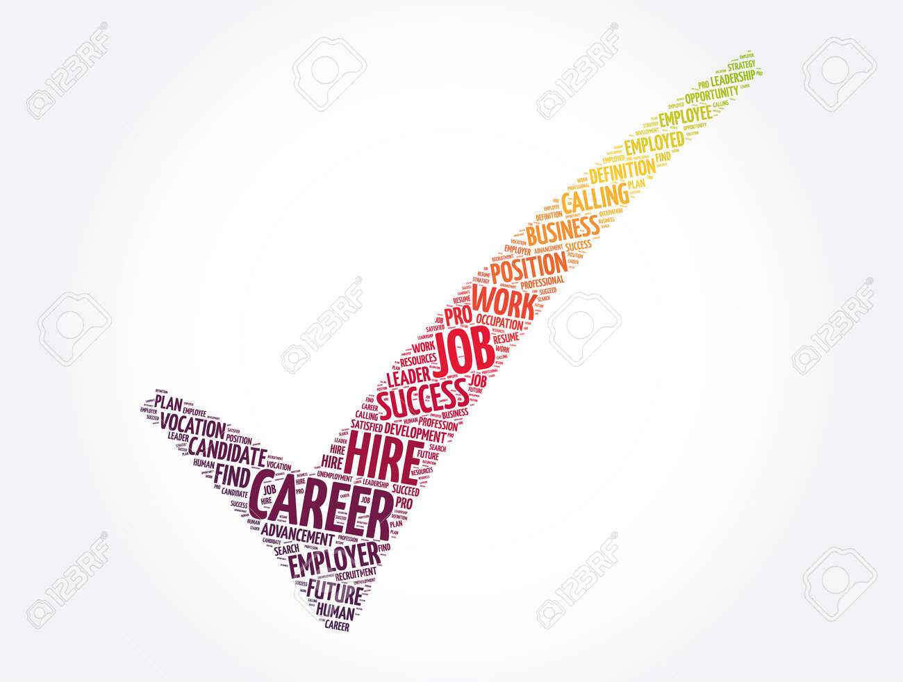 Career check mark word cloud collage, business concept background - 166624442