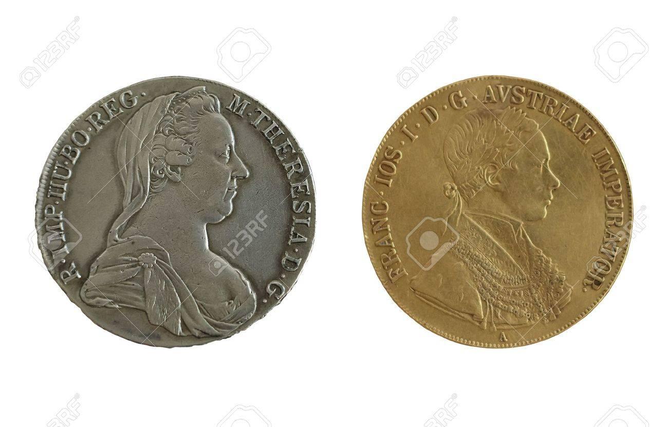 Sterreich Münzen Silber Mit Kaiserin Maria Theresia Gold Mit