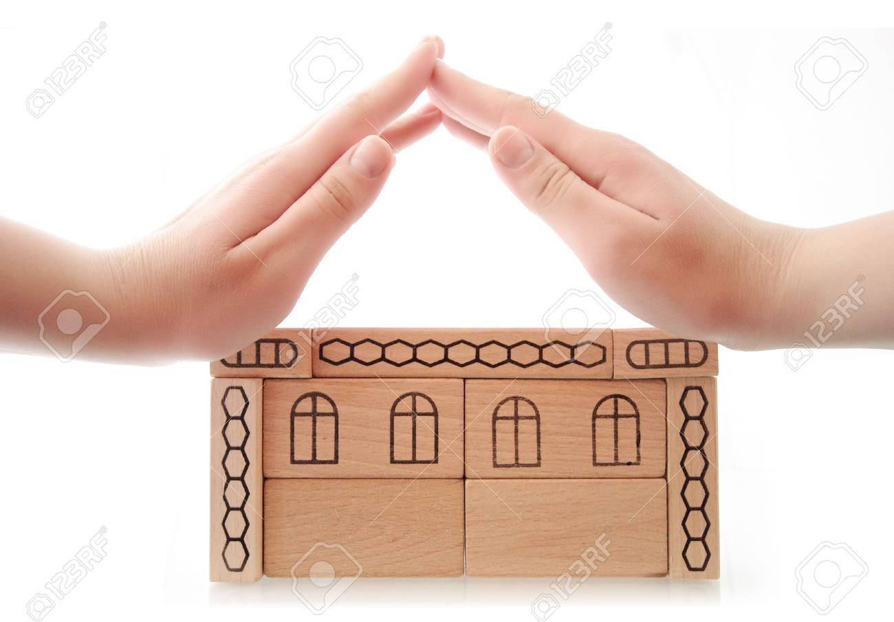 Women hands as roof Stock Photo - 6657046