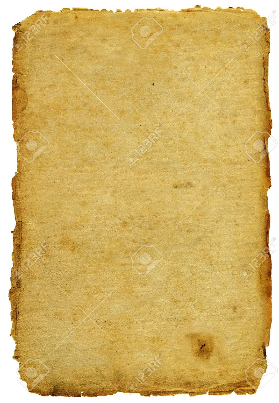 Ancient paper with shabby edges isolated - 10027860