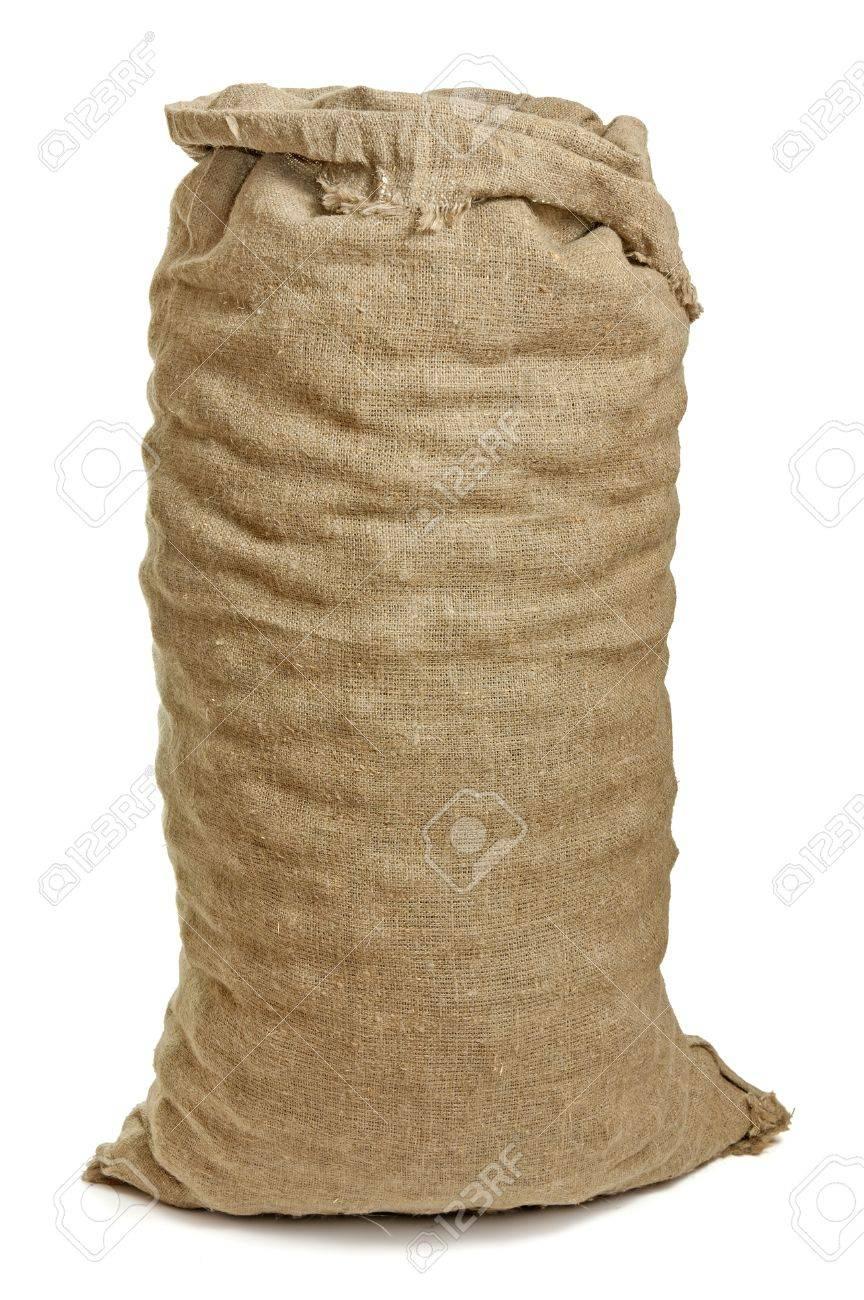 Full big sack isolated on white - 10028837