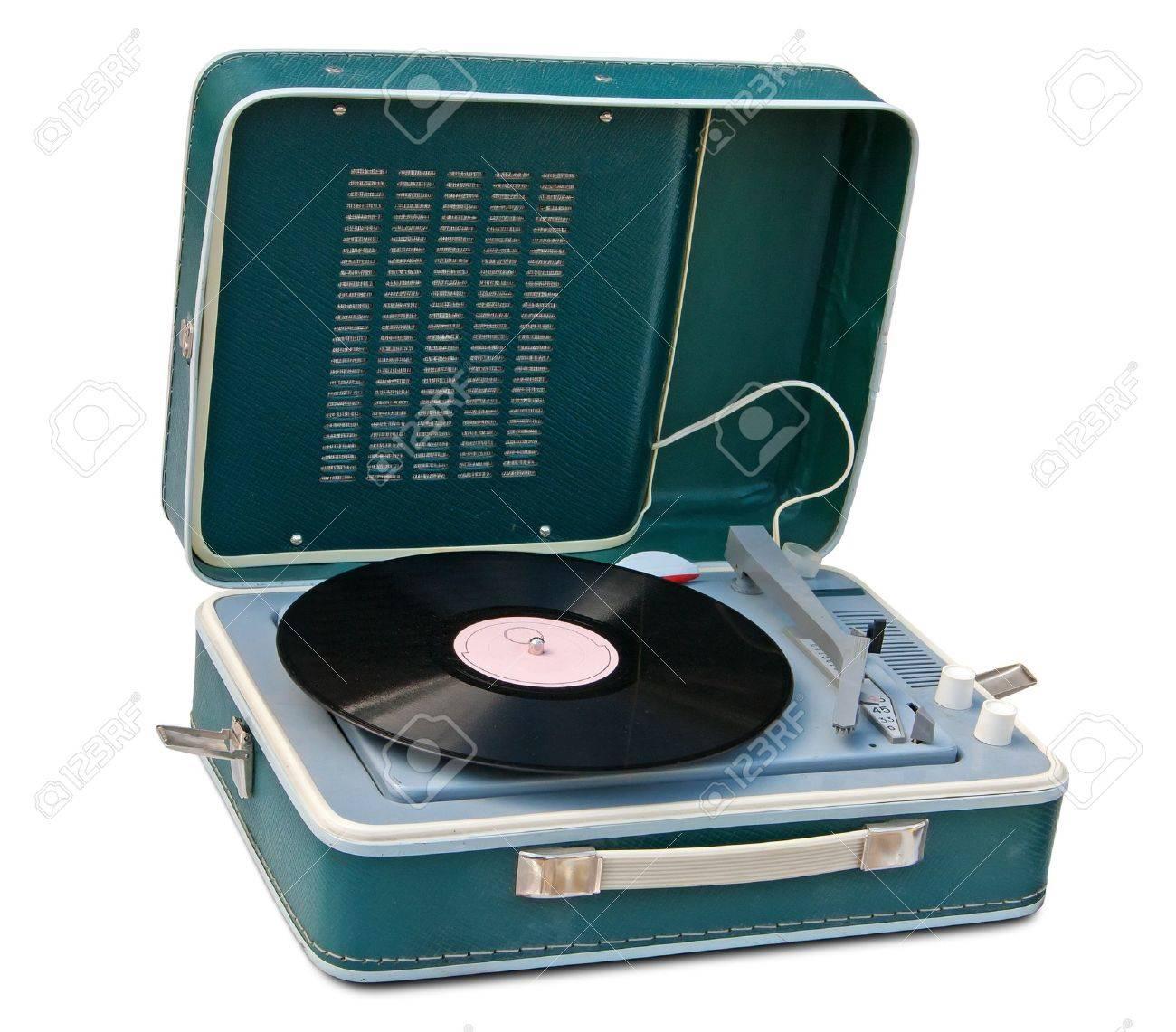 Retro portable turntable isolated. Stock Photo - 10026881