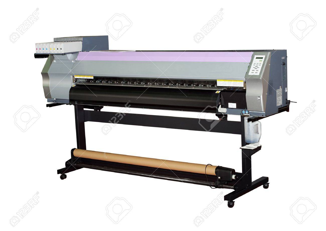 Large format inkjet printer for outdoor billboards printing isolated on white - 10398281