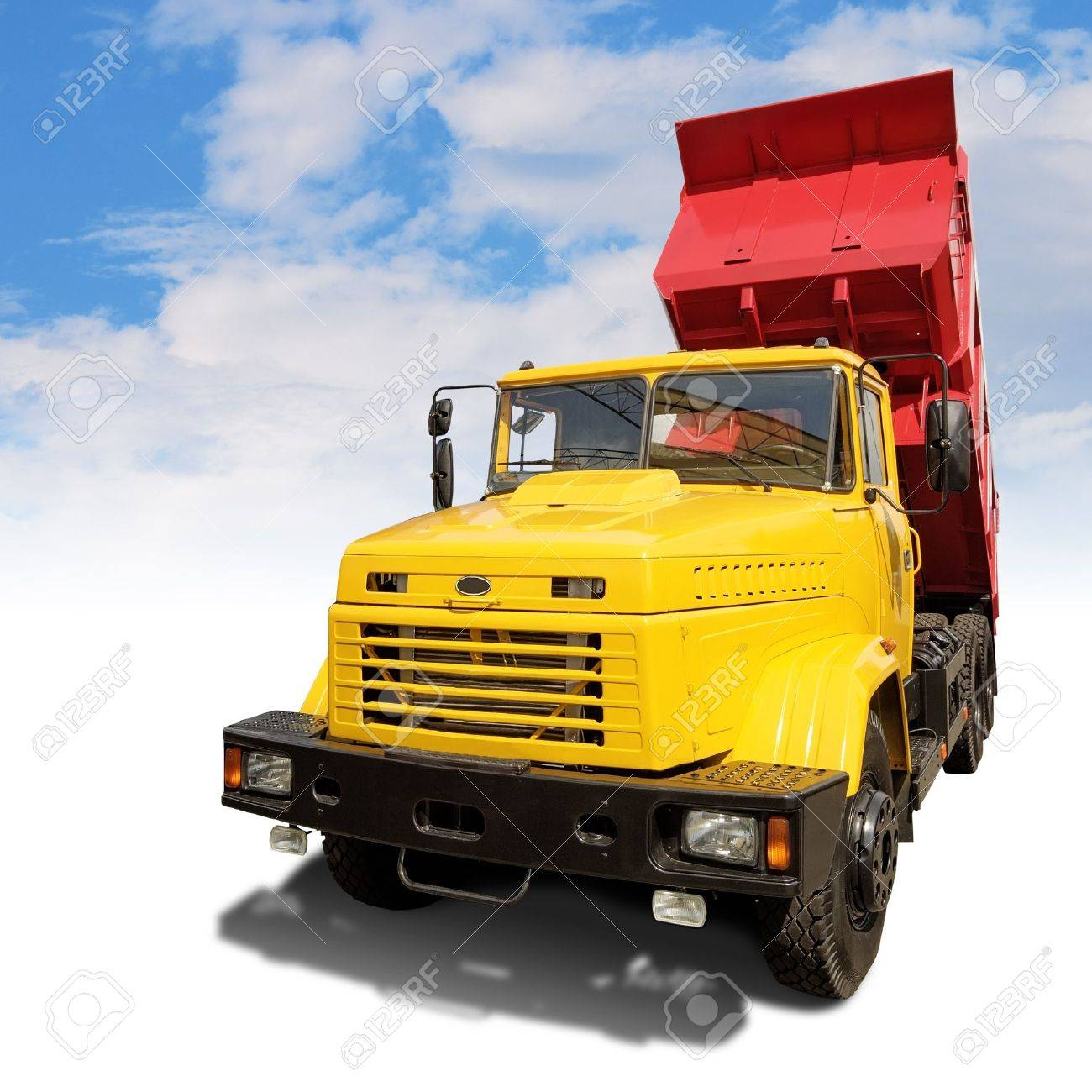 heavy industrial tipper with clipping path - 10160359