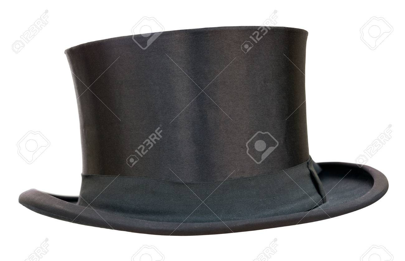 Retro top hat on white Clipping path included - 22973742