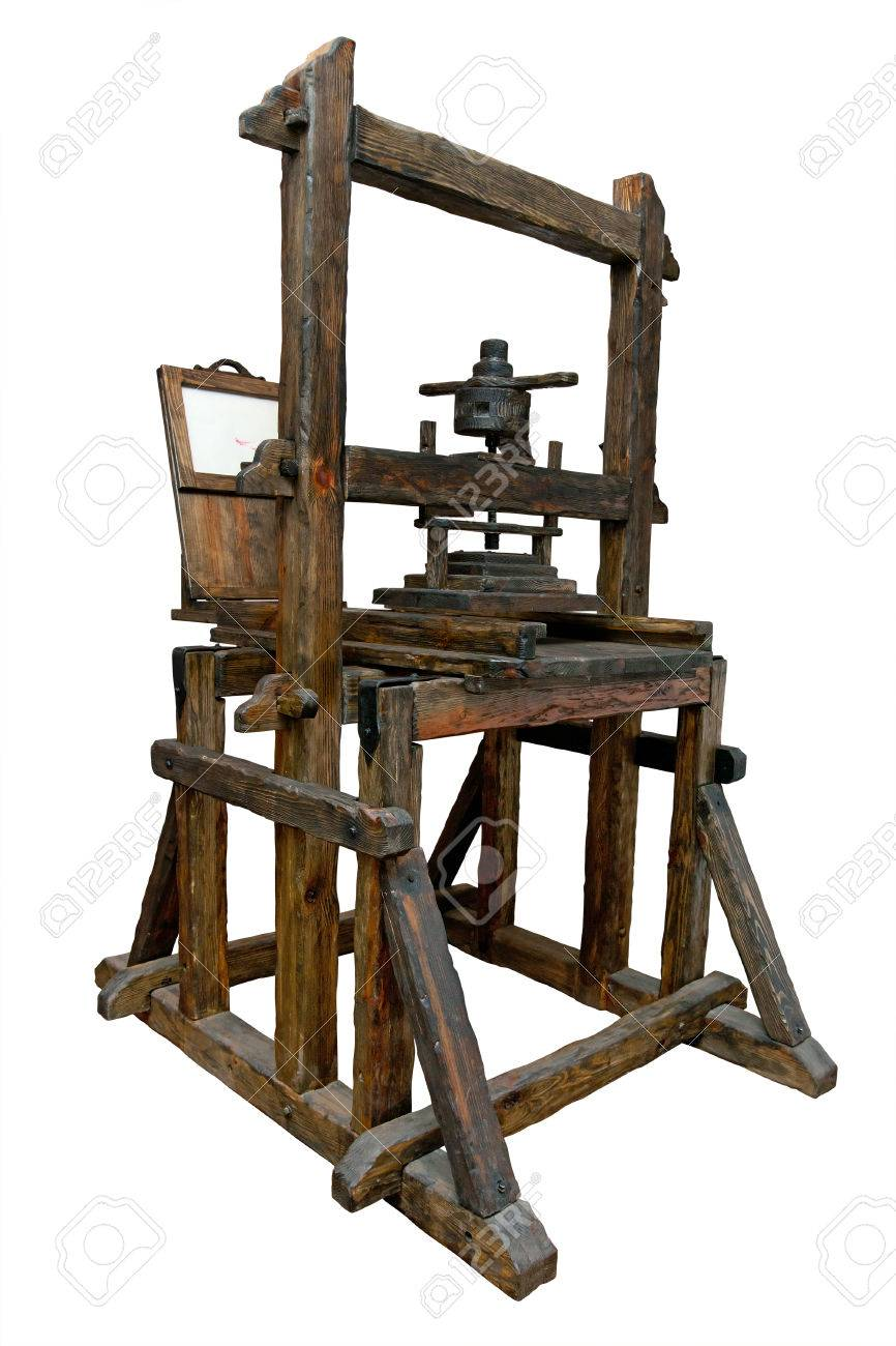 Old wooden printing press - 22973892