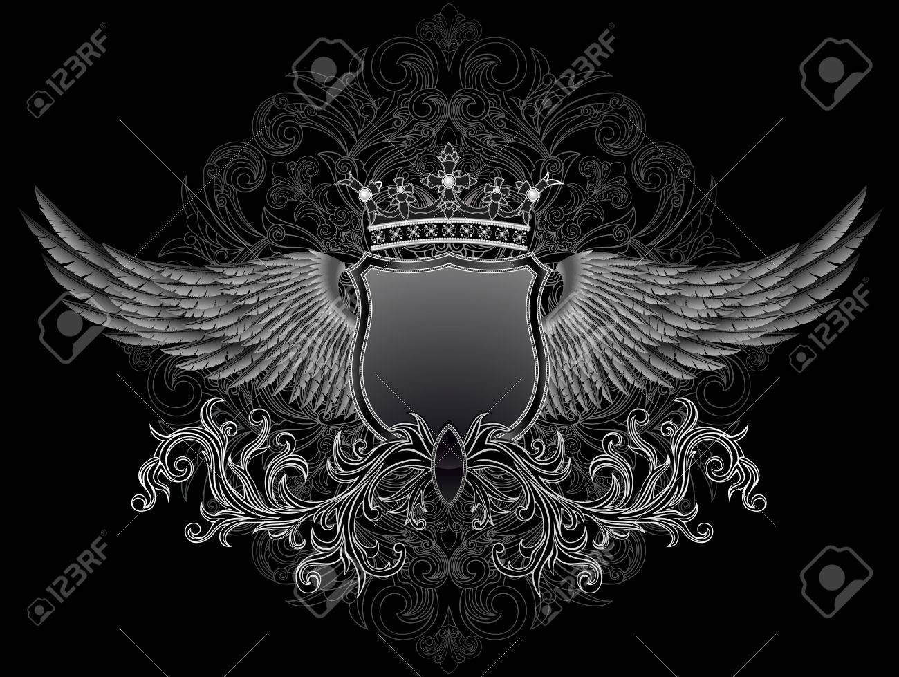 Shield with wings, file has layers, EPS 8 Stock Vector - 19959314
