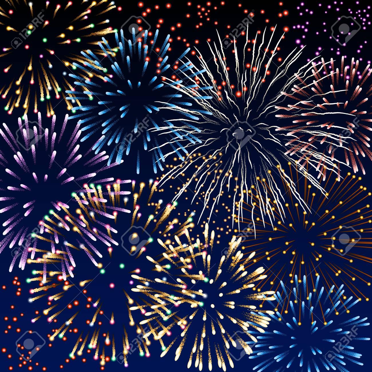 Illustration of fireworks Stock Vector - 20241410