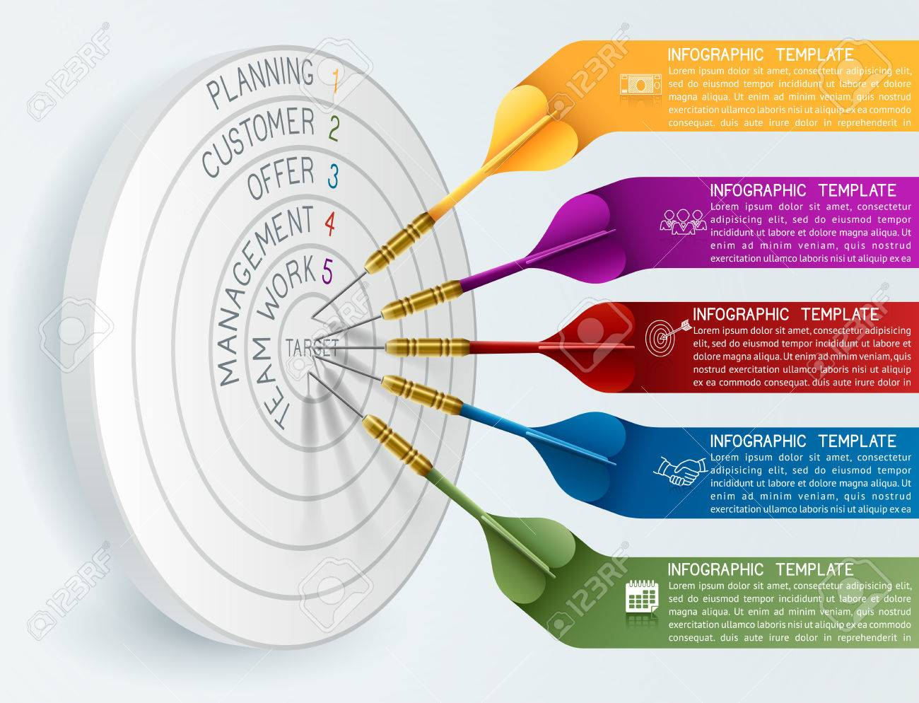 Business concept template business target reaching idea with business concept template business target reaching idea with dart can be used for education cheaphphosting Images