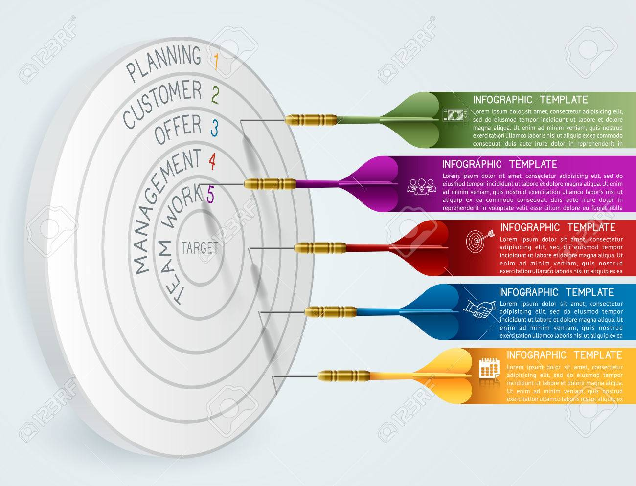Business concept template business target reaching idea with business concept template business target reaching idea with dart can be used for education cheaphphosting