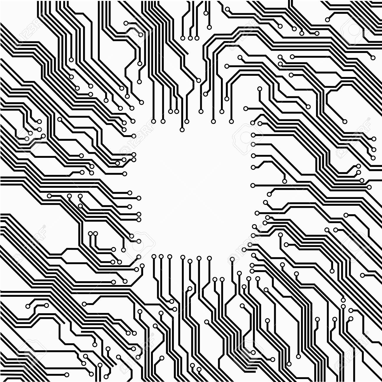 circuit board background, vector frame eps 8 no transparencycircuit board background, vector frame eps 8 no transparency vector illustration stock vector