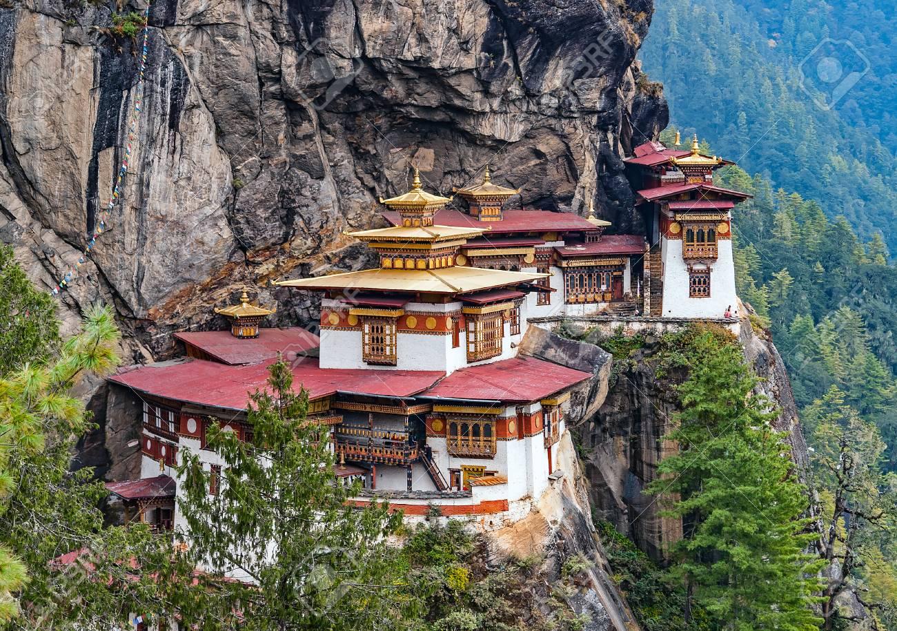 Paro Taktsang The Tigers Nest Monastery Bhutan Taktsang Is