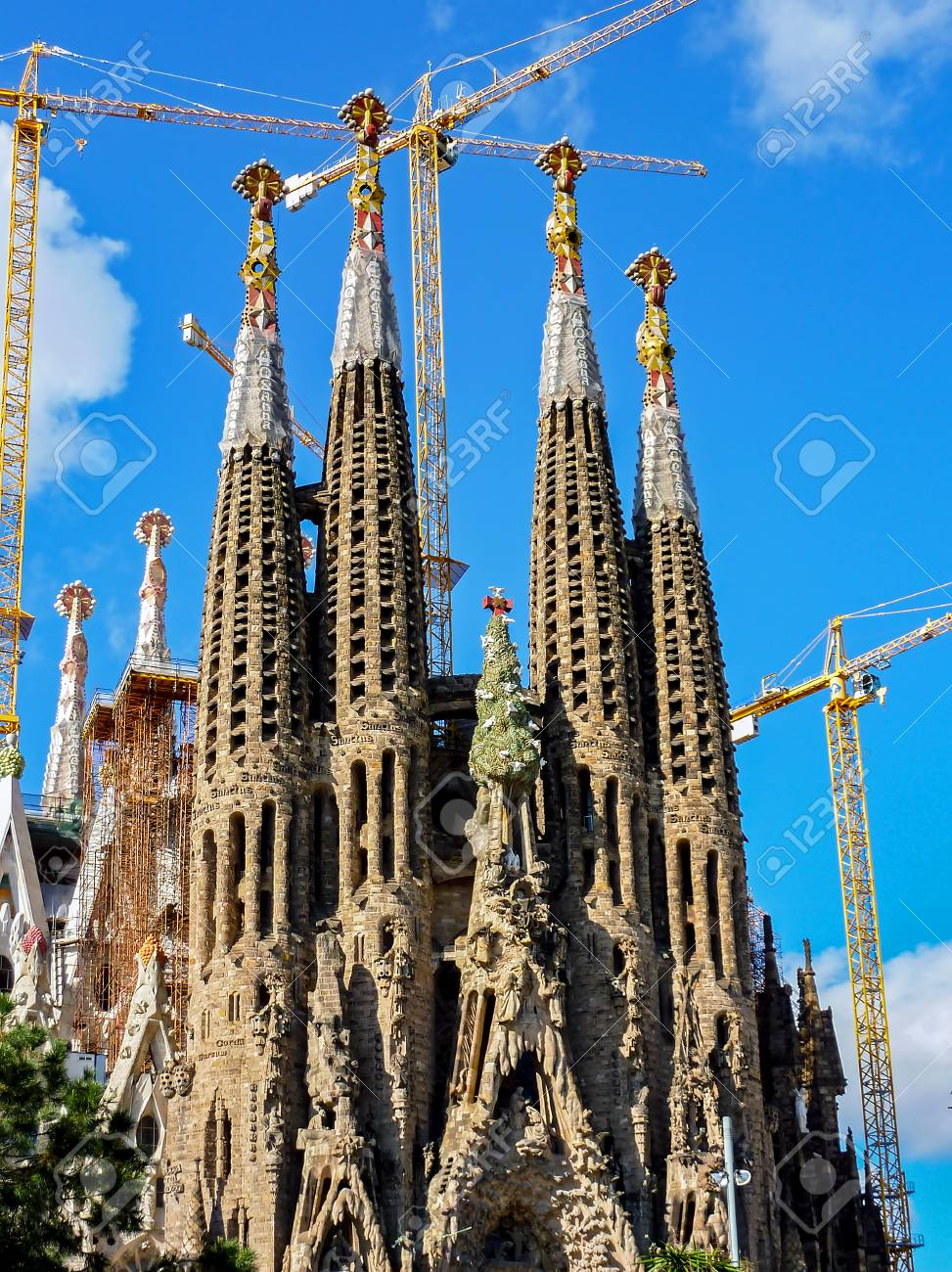 Construction Of Sagrada Familia In Barcelona Spain The Sagrada Stock Photo Picture And Royalty Free Image Image 89158206