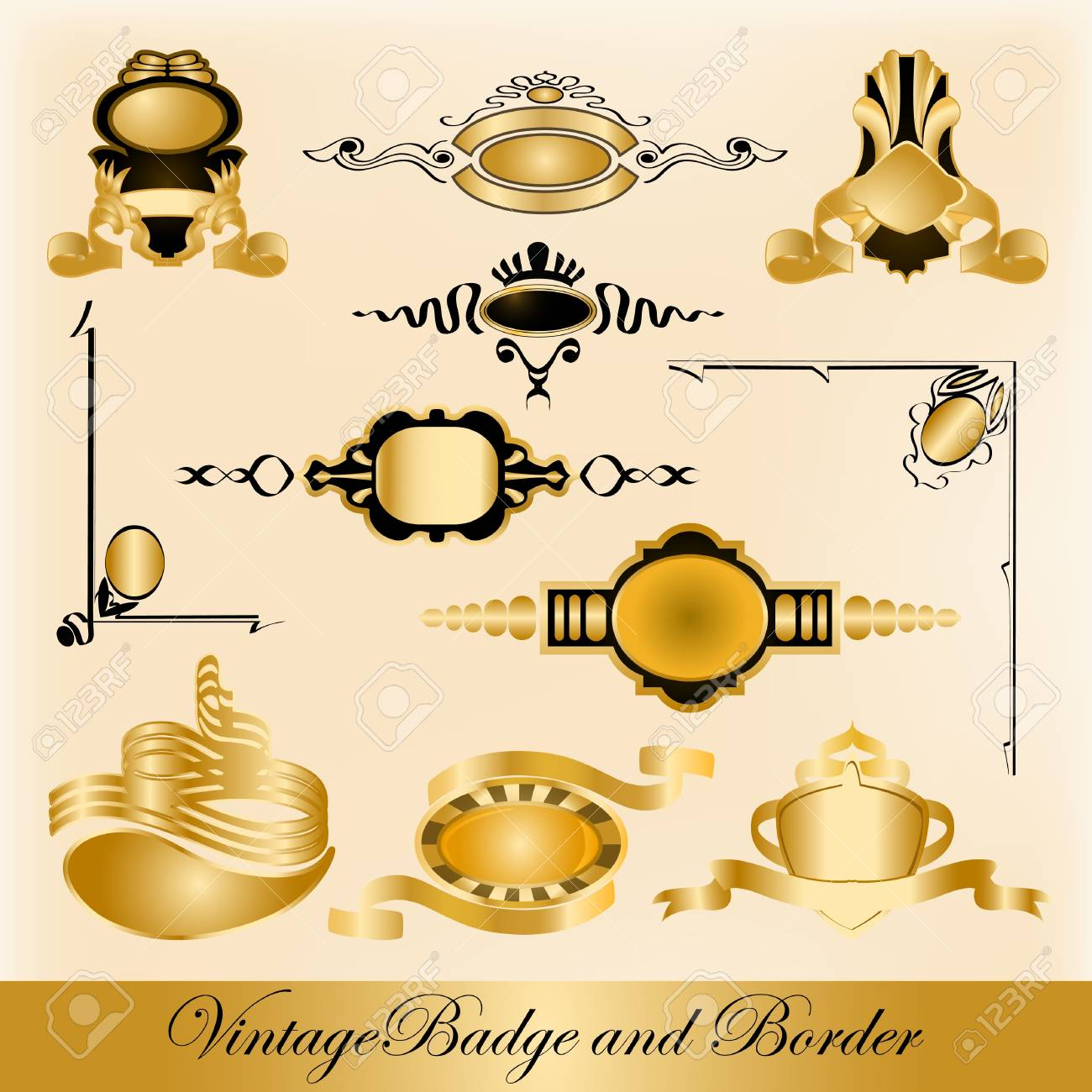 badge and border Stock Vector - 12479867