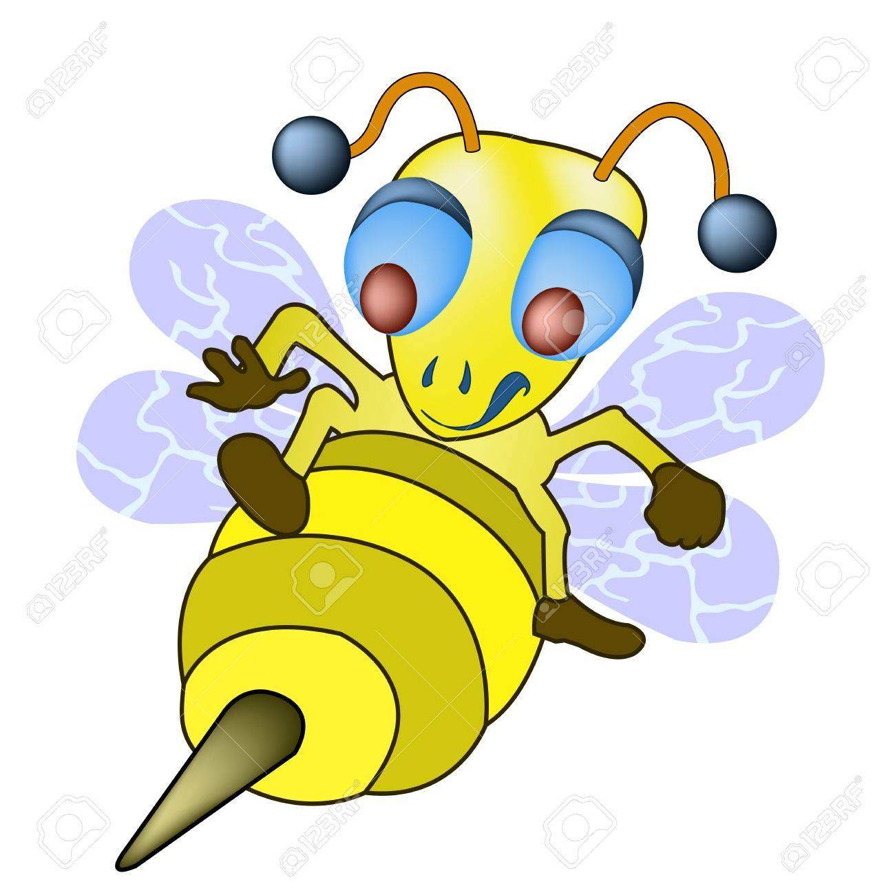bee flying to sting Stock Vector - 13224135