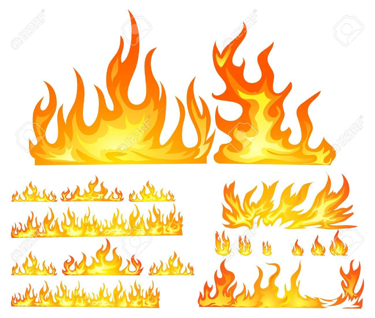 fire isolated in white Stock Vector - 13696606