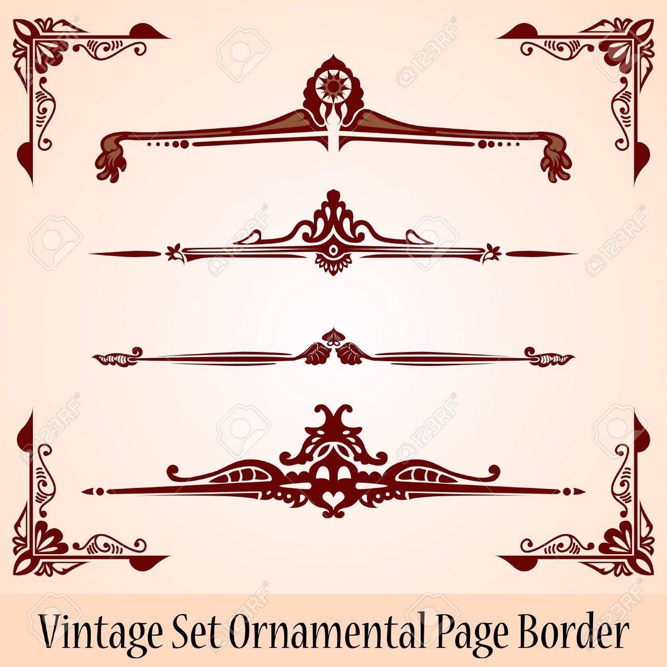 vintage page border Stock Vector - 14024288