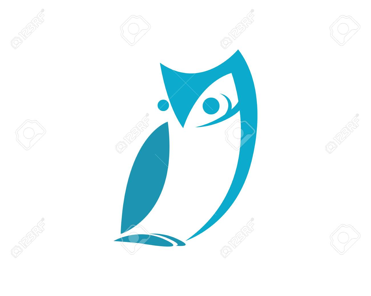 Owl Template Icon Illustration Design Stock Vector