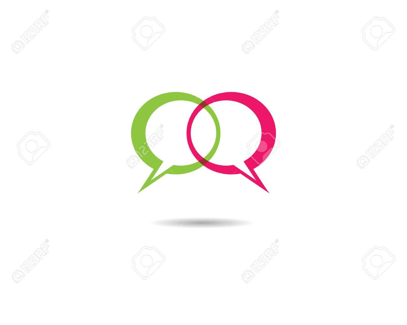 9b65e2f7dab9af Speech bubble icon Logo template vector illustration Stock Vector -  106725187