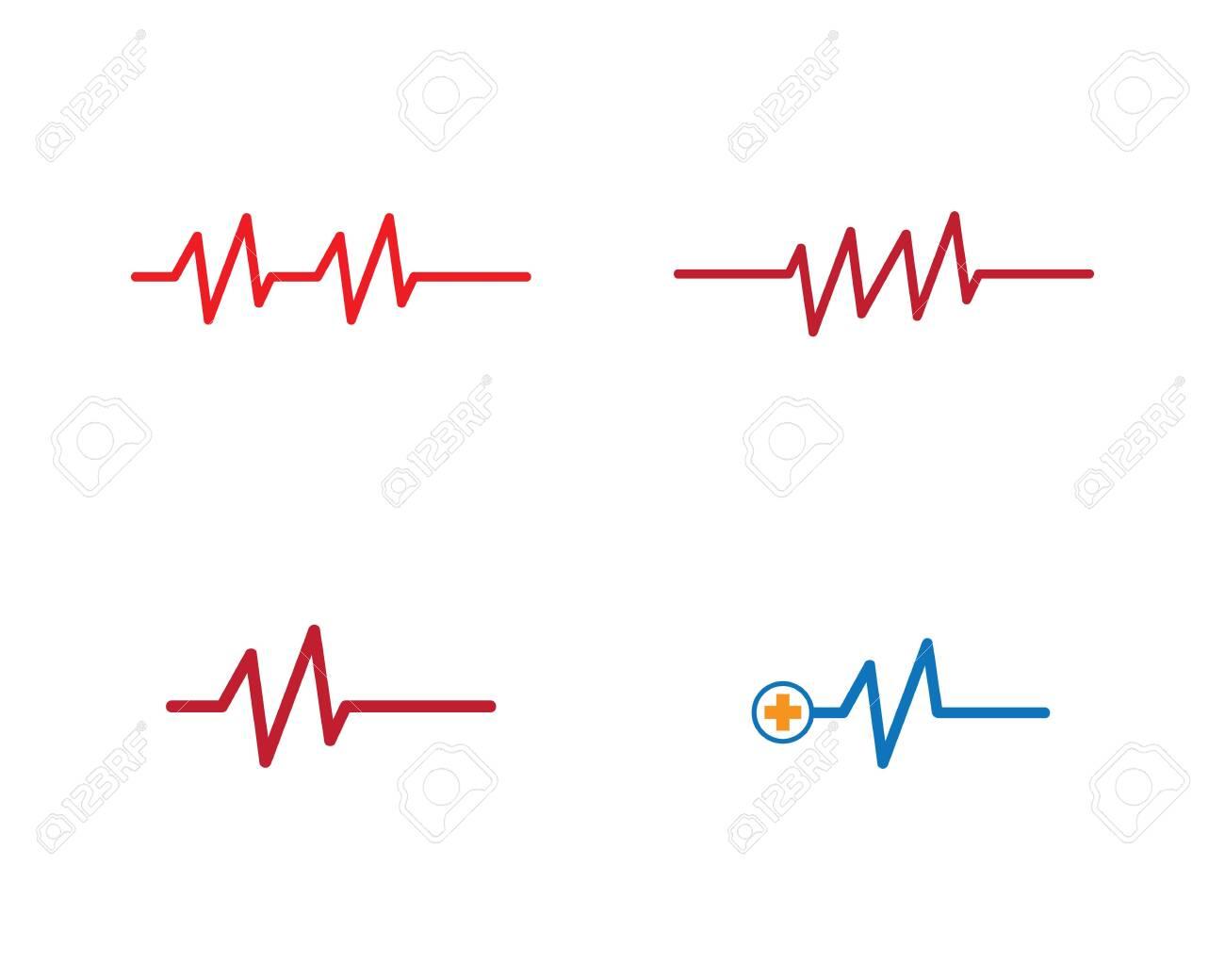 Pulse logo template vector icon illustration design - 144622934