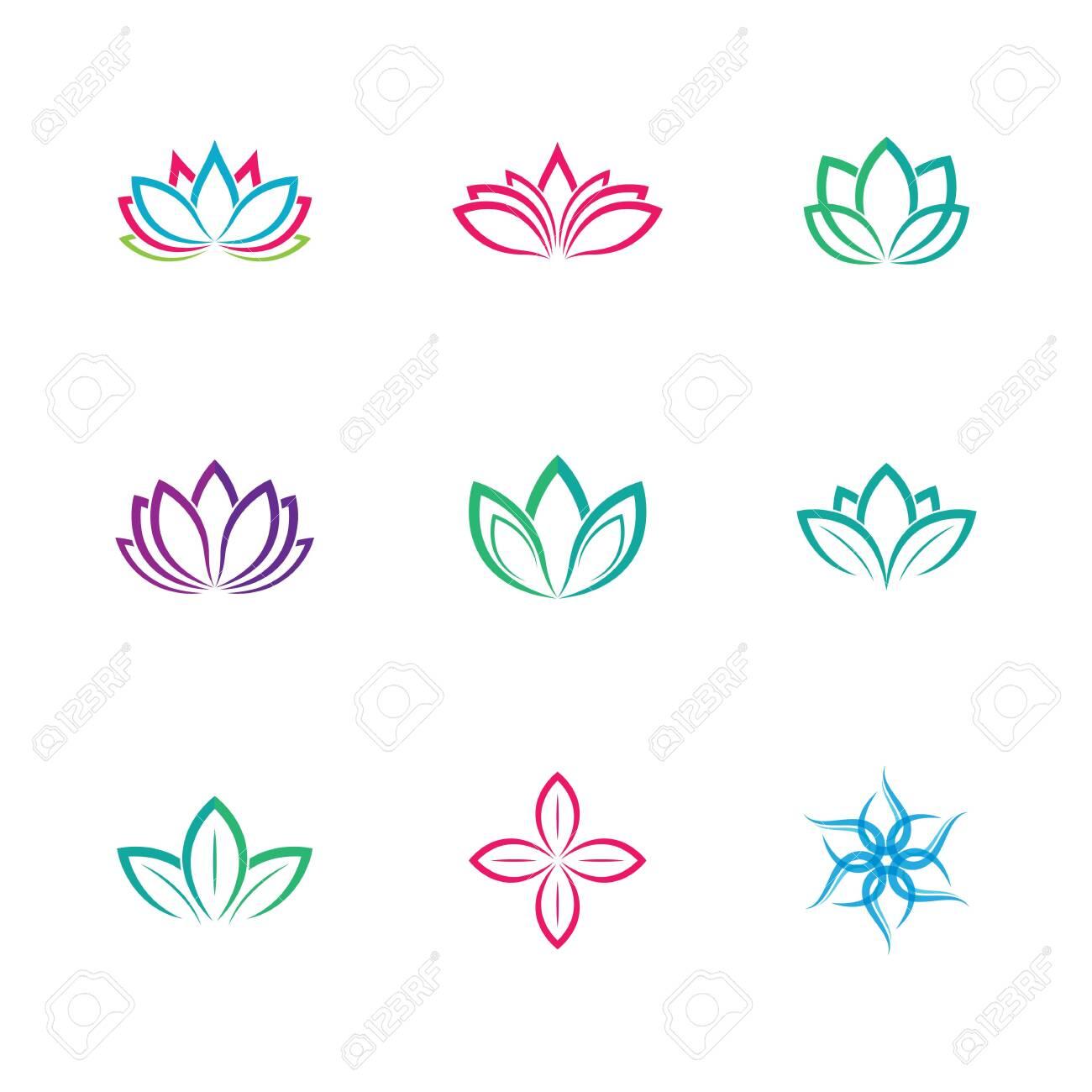 Lotus symbol vector icon illustration - 150062977