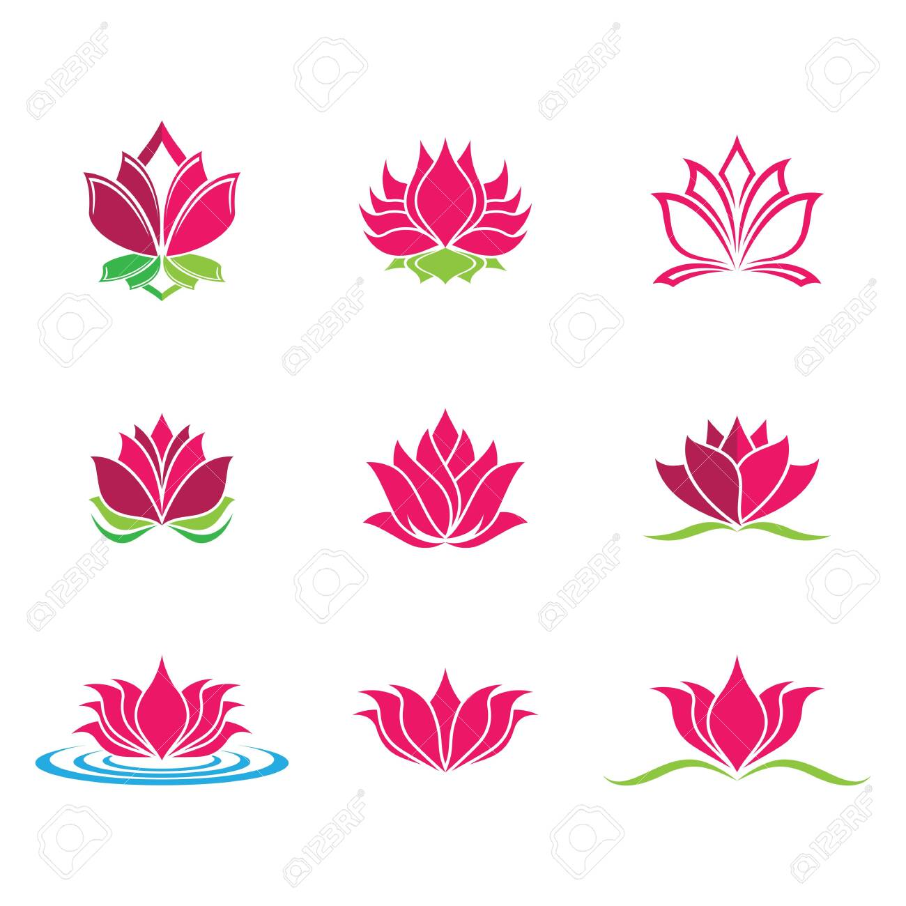 Lotus symbol vector icon illustration - 150678196