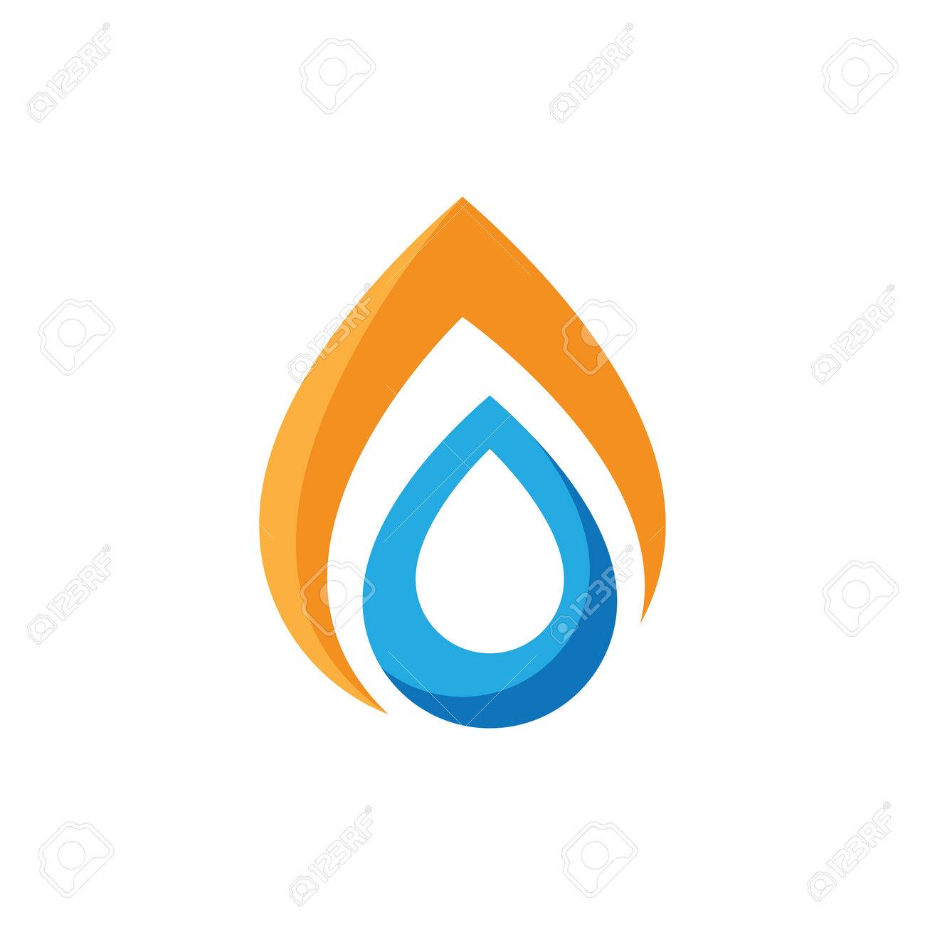 Water drop logo images illustration design - 168292199
