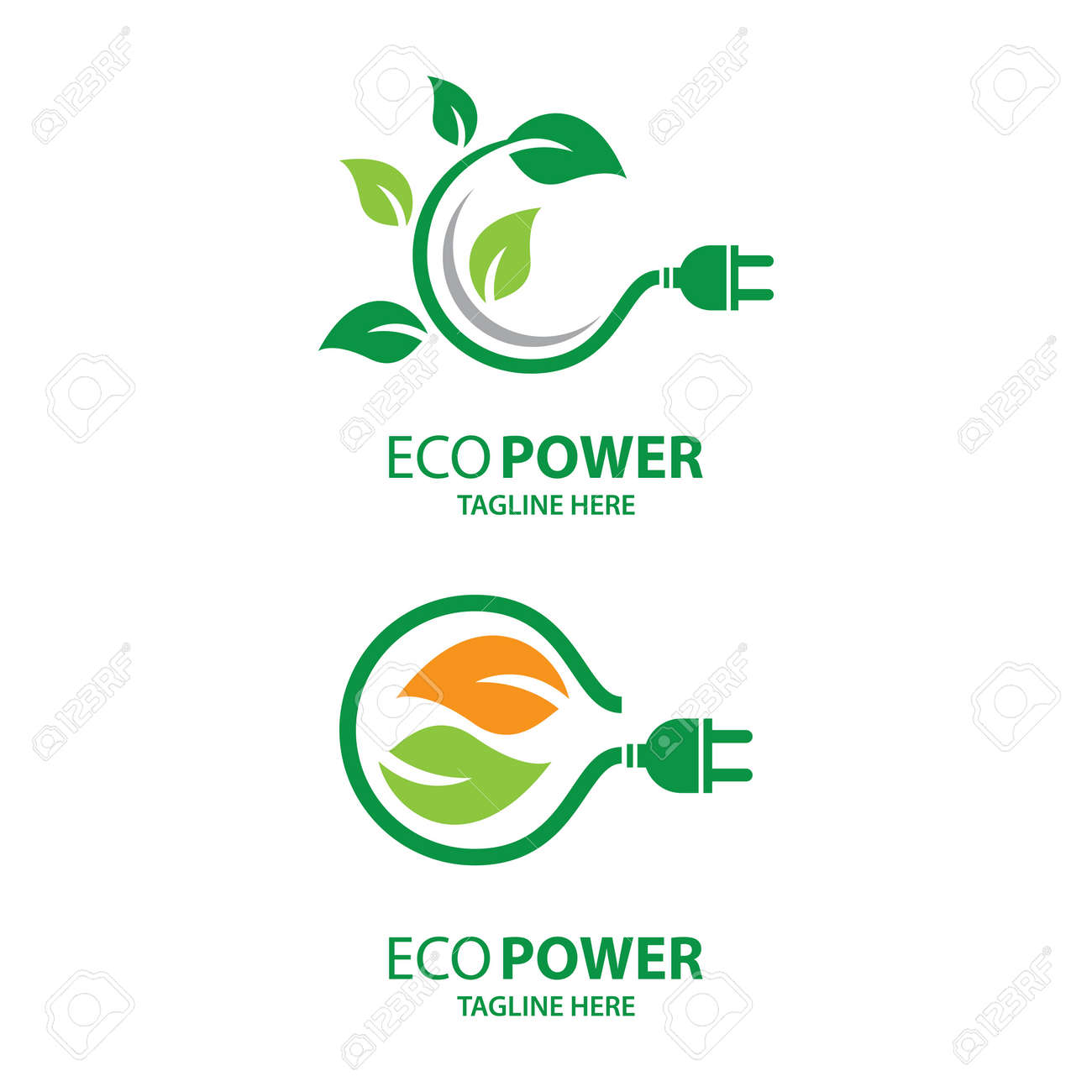 Eco energy logo images illustration design - 171705467