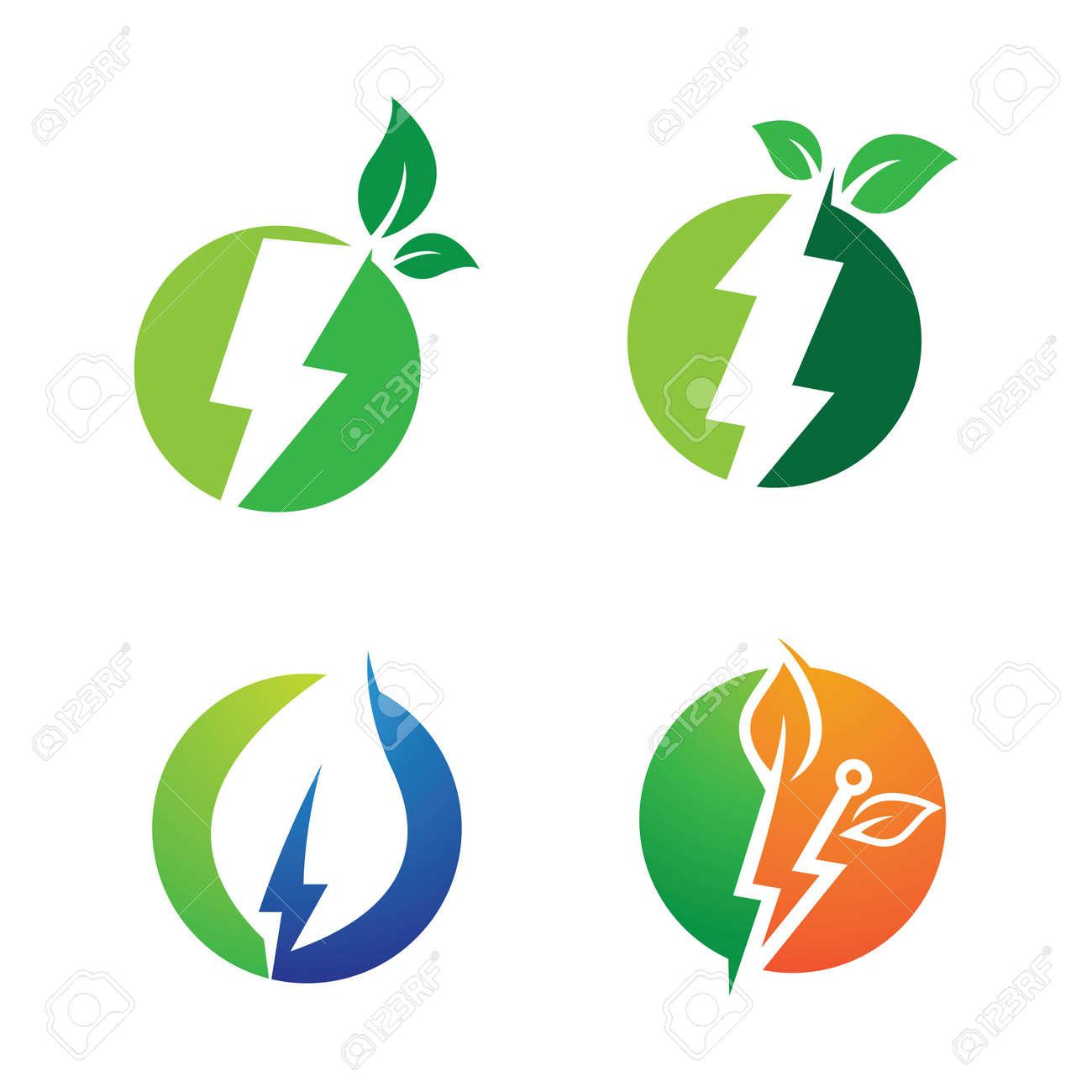 Eco energy logo images illustration design - 171705474
