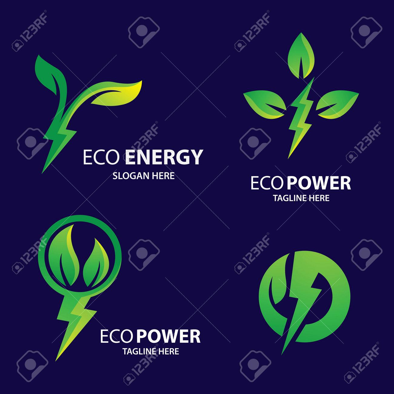 Eco energy logo images illustration design - 171705481