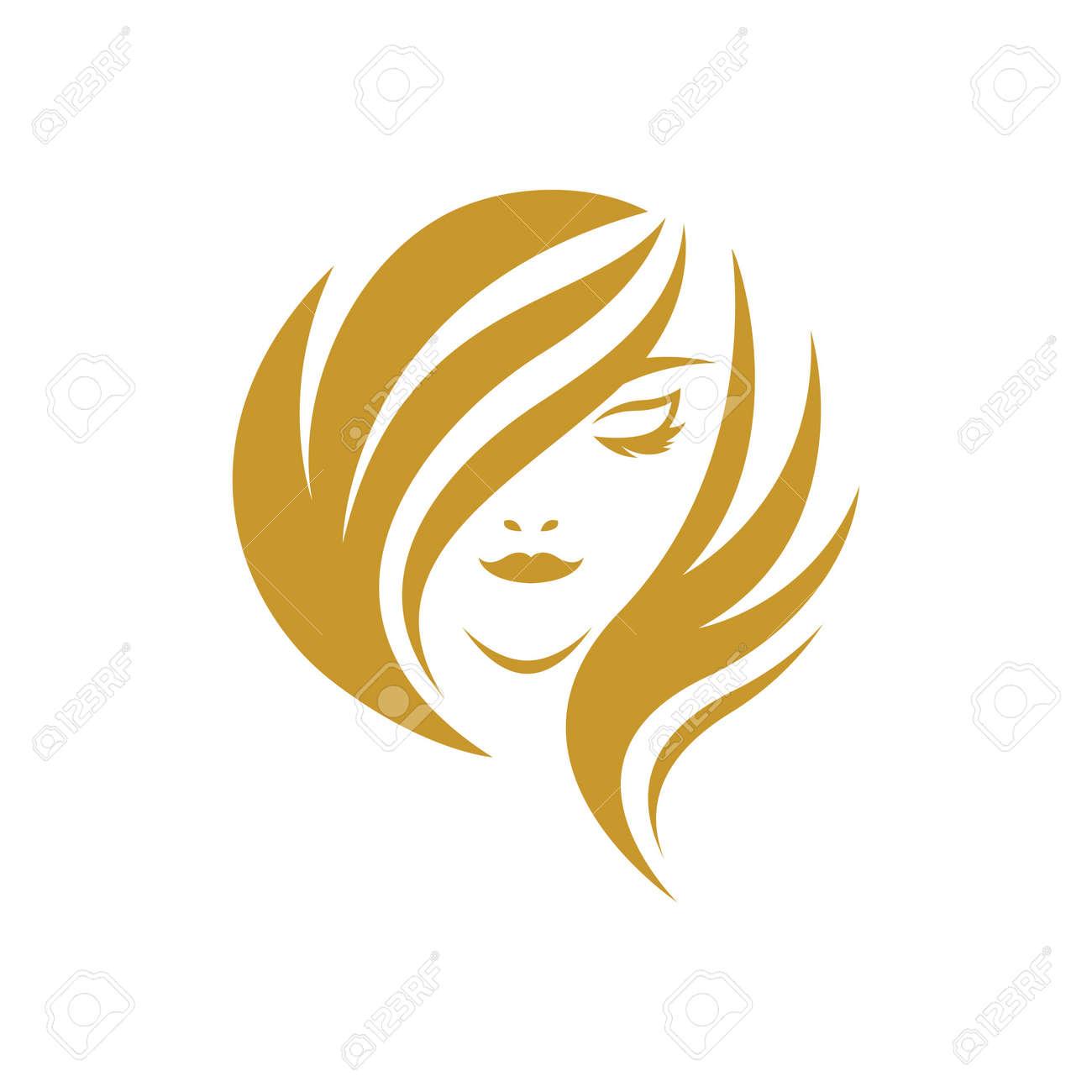 Beauty hair and salon logo images illustration design - 172261488