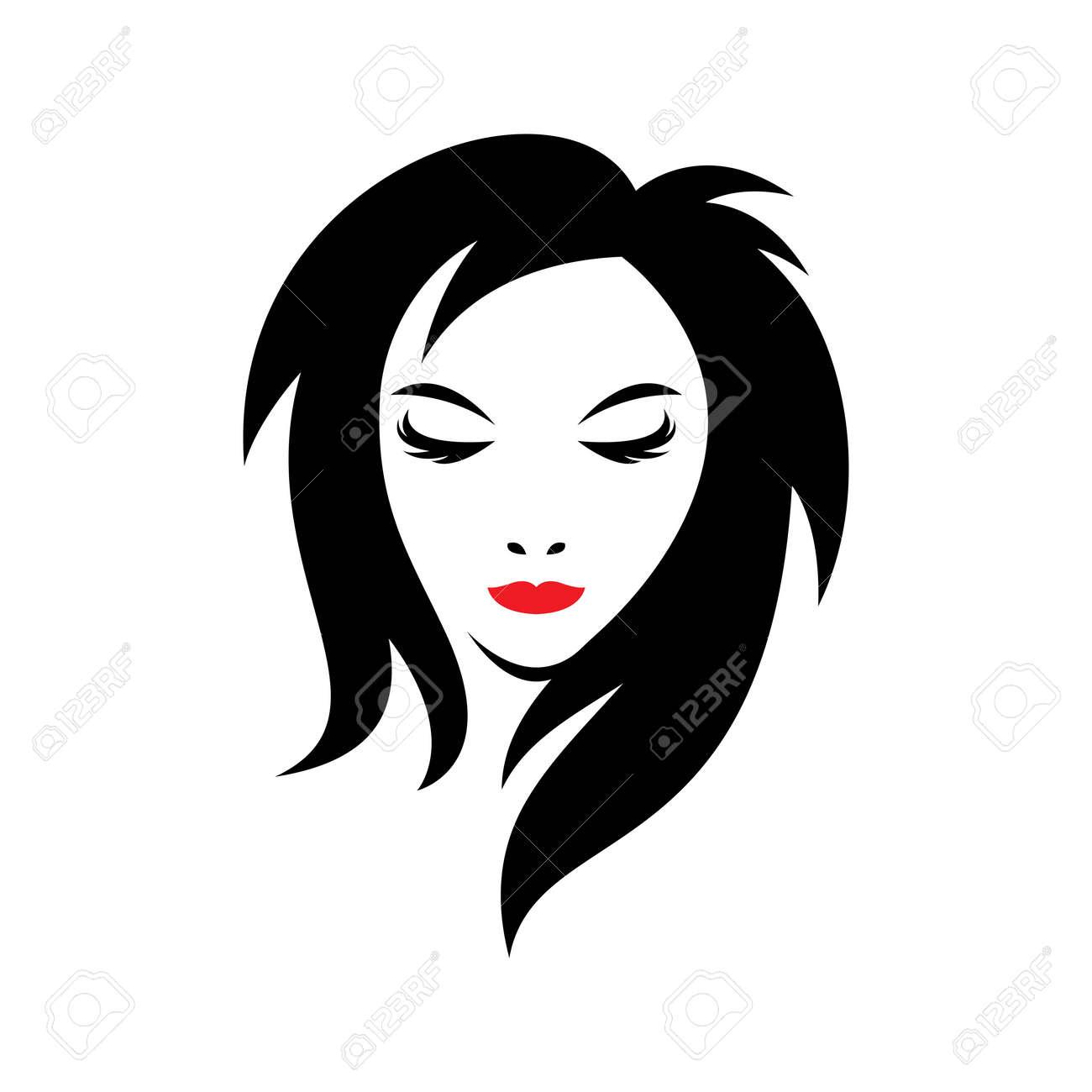 Beauty hair and salon logo images illustration design - 173289078