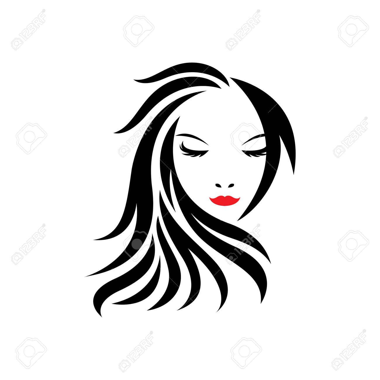 Beauty hair and salon logo images illustration design - 173289132