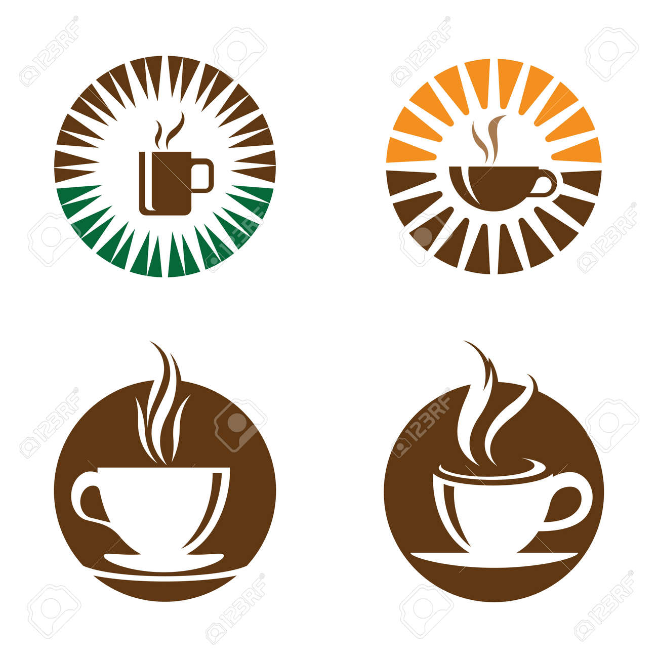 Coffee cup logo images illustration design - 173289147
