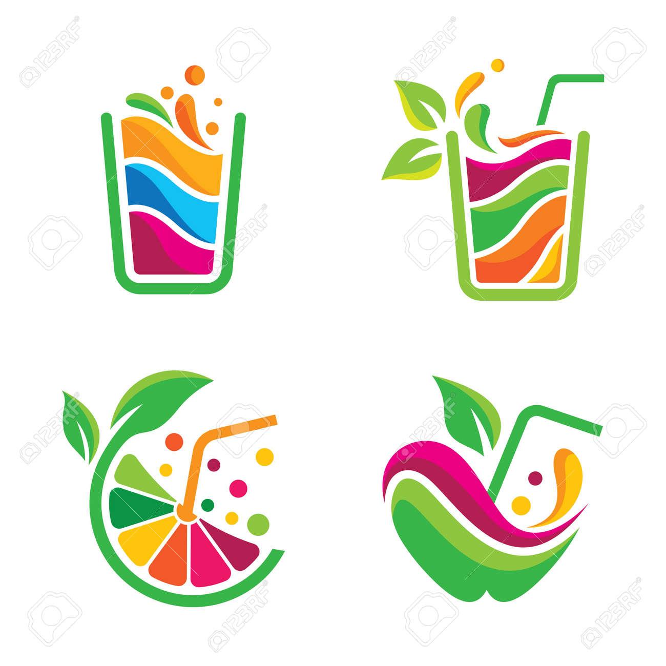Fresh juice logo images illustration design - 173410511