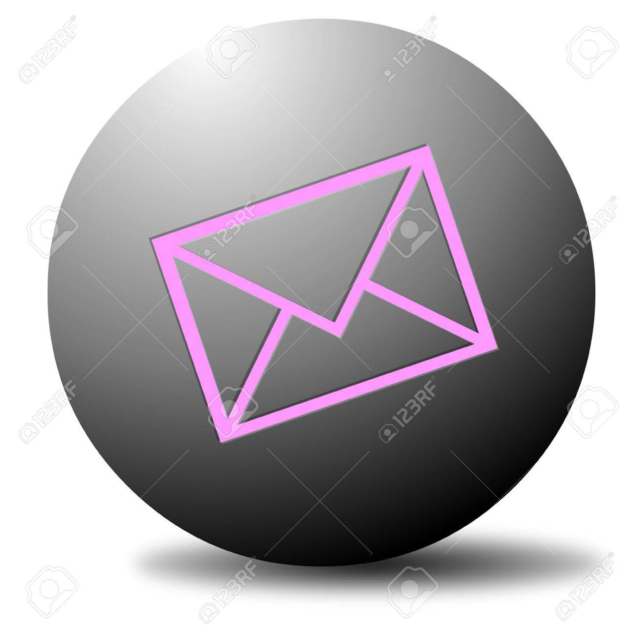 Colored email icon for use as a contact button Stock Photo - 3538781